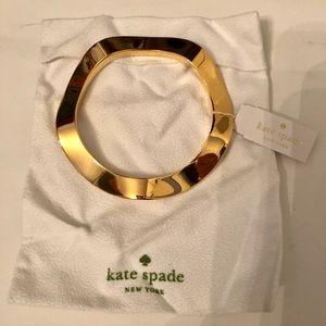 "NWT Kate Spade ""Make Waves"" Gold Bangle Bracelet"